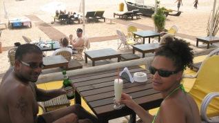 Goa 2011 Dom & Kat chilling again at a beach shack