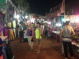 Kat & her mum Anne at Goa's Night Market