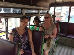 Dom's mum Libra, Kats mum Anne and Kat ridding the bus