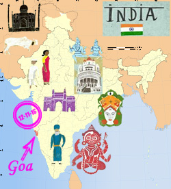 India Goa map - Copy
