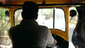 View from the back of the rickshaw