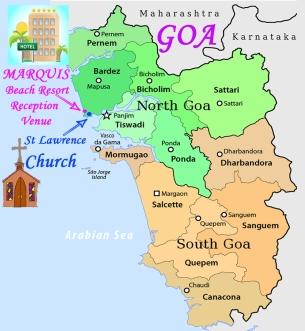 GOA Map of venues -FLAT